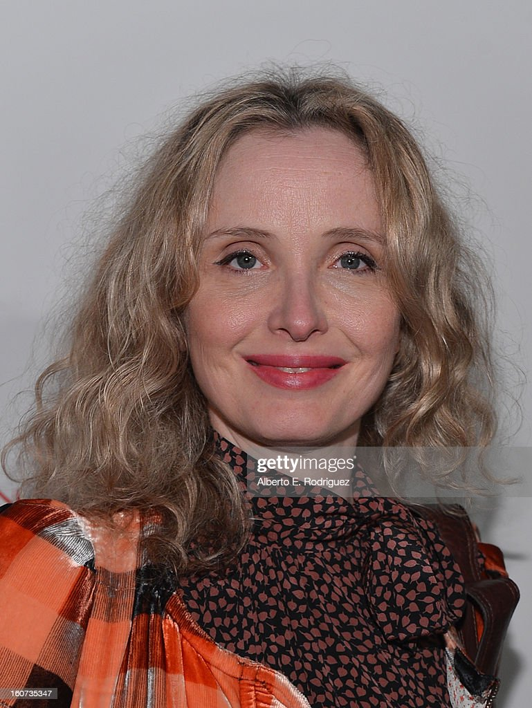 Actress Julie Delpy attends the Los Angeles premiere of A24's 'A Glimpse Inside The Mind Of Charles Swan III' at ArcLight Hollywood on February 4, 2013 in Hollywood, California.