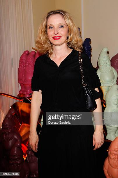 Actress Julie Delpy attends the Mulberry SS13 Dinner at Chateau Marmont on November 14 2012 in Los Angeles California