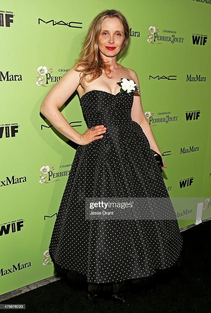 Actress Julie Delpy attends the Women In Film Pre-Oscar Cocktail Party presented by Perrier-Jouet, MAC Cosmetics & MaxMara at Fig & Olive Melrose Place on February 28, 2014 in West Hollywood, California.
