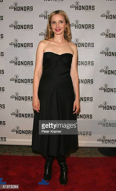 Actress Julie Delpy poses backstage at the 5th Annual Directors Guild Of America Honors at the Waldorf Astoria Hotel September 29 2004 in New York...