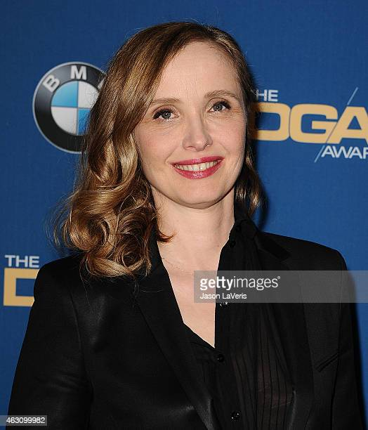 Actress Julie Delpy poses in the press room at the 67th annual Directors Guild of America Awards at the Hyatt Regency Century Plaza on February 7...