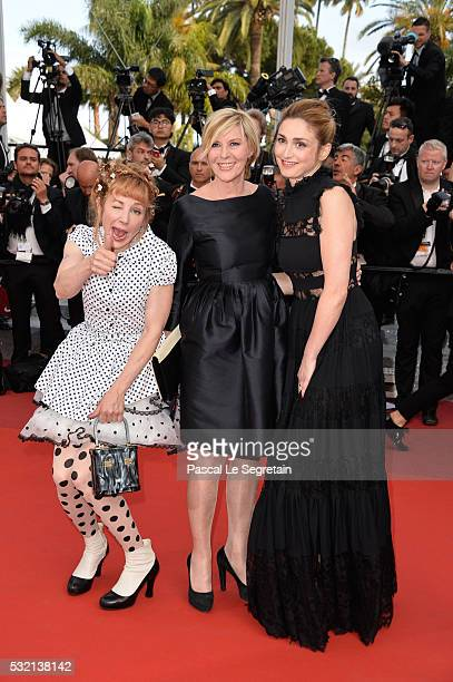 Actress Julie Depardieu a guest and actress Julie Gayet attend 'The Unknown Girl ' Premiere during the 69th annual Cannes Film Festival at the Palais...