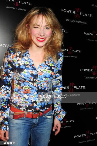 Actress Julie Depardieu attends the 10th Anniversary of Power plate and the 'Power Bike' Launch Party at Le 104 on October 7 2010 in Paris France