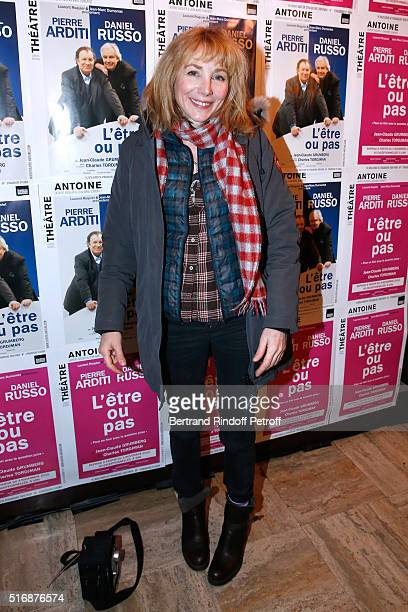 Actress Julie Depardieu attends the 'L'Etre ou pas' Theater play at Theatre Antoine on March 21 2016 in Paris France