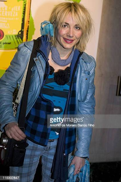 Actress Julie Depardieu attends 'When Advertising Invites Art' party at Palais De Tokyo on November 10 2009 in Paris France