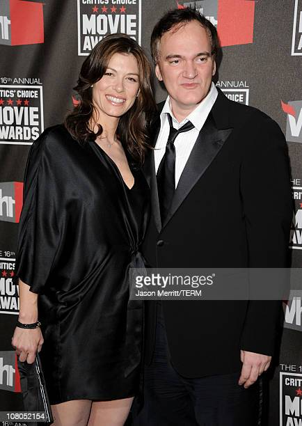 Actress Julie Dreyfus and filmmaker Quentin Tarantino arrive at the 16th annual Critics' Choice Movie Awards at the Hollywood Palladium on January 14...