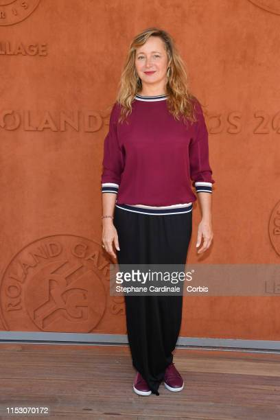 Actress Julie Ferrier attend the 2019 French Tennis Open Day Seven at Roland Garros on June 01 2019 in Paris France