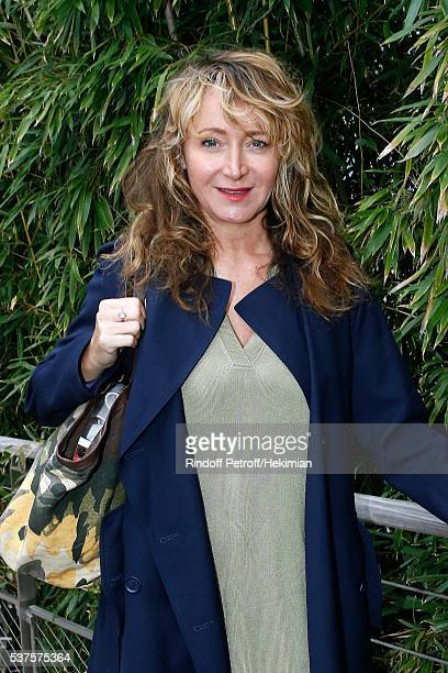 Actress Julie Ferrier attends Day Twelve of the 2016 French Tennis Open at Roland Garros on June 2 2016 in Paris France