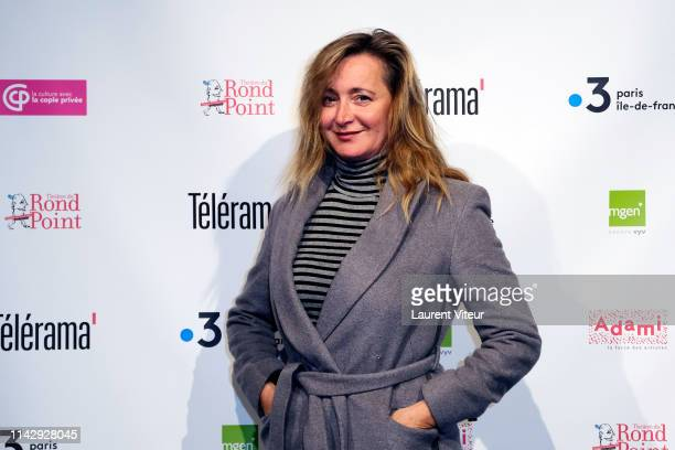 Actress Julie Ferrier attends the 2nd Topor Award Prizes At Theatre Du Rond Point on April 15 2019 in Paris France