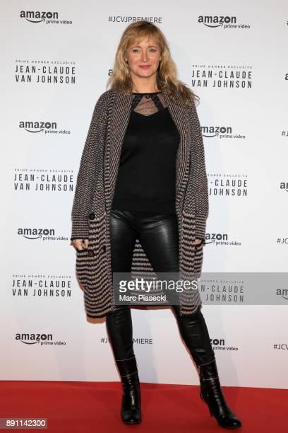 Actress Julie Ferrier attends the Amazon TV series 'Jean Claude Van Johnson' Premiere at Le Grand Rex on December 12 2017 in Paris France