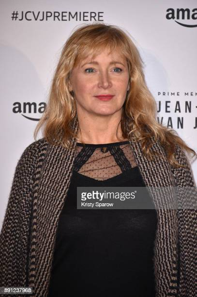 Actress Julie Ferrier attends the Amazon TV series 'Jean Claude Van Johnson' Premiere at Le Grand Rex on December 12 2017 in Paris France at Le Grand...