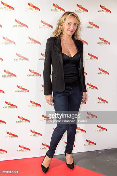 Actress Julie Ferrier attends the Mumm Grand Cordon Party At The YoYo Club after the 2016 FIA Formula E Championship Paris E Prix on April 23 2016 in...