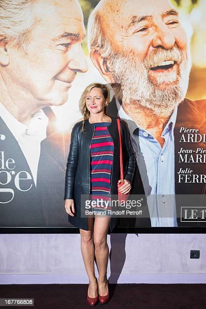 Actress Julie Ferrier attends the premiere of Nick Quinn's movie 'La Fleur De L'Age' at UGC Cine Cite Bercy on April 29 2013 in Paris France