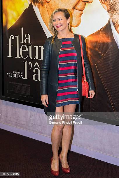 Actress Julie Ferrier attends the premiere of Nick Quinn's movie 'La Fleur De L'Age' at UGC Cine Cite Bercy on April 29 2013 in Paris France