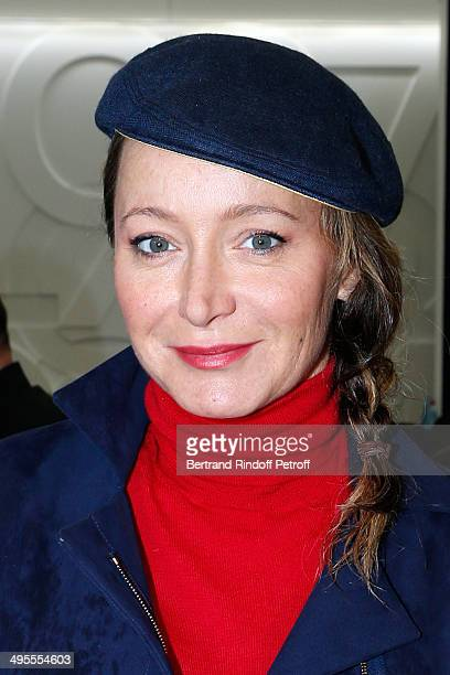 Actress Julie Ferrier attends the Roland Garros French Tennis Open 2014 Day 11 on June 4 2014 in Paris France