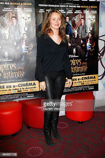 Actress Julie Ferrier attends the 'Vampires en toute intimite' Paris Premiere at Gaumont Capucines on October 29 2015 in Paris France
