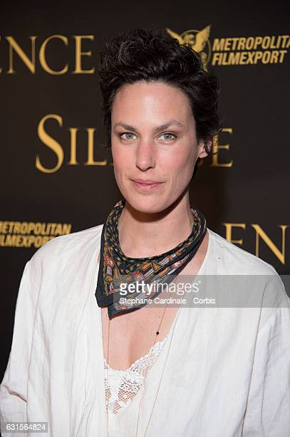 Actress Julie Fournier attends the Silence Paris Premiere at Musee National Des Arts Asiatiques Guimet on January 12 2017 in Paris France