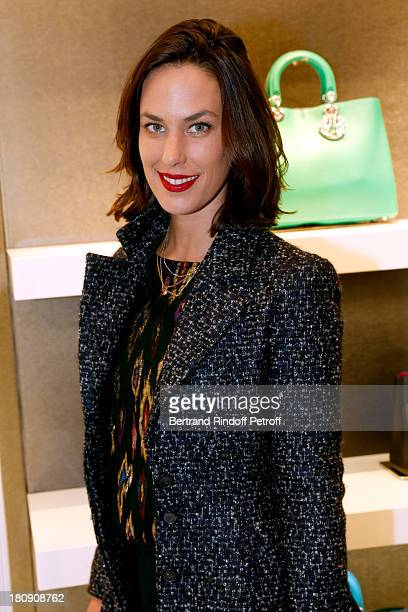 Actress Julie Fournier attends 'Vogue Fashion Night Out 2013' at Dior Rue Royale in Paris on September 17 2013 in Paris France