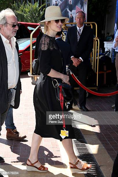 Actress Julie Gayet arrives at the Majestic Hotel during the 69th Annual Cannes Film Festival on May 15 2016 in Cannes
