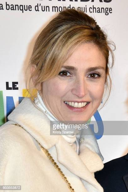 Actress Julie Gayet attends the 19th 'Le Printemps Du Cinema' opening ceremony photocall at the UGC Cine Cite Bercy on March 18 2018 in Paris France