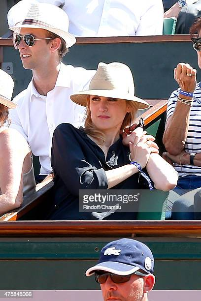 Actress Julie Gayet attends the 2015 Roland Garros French Tennis Open - Day Twelve, on June 4, 2015 in Paris, France.