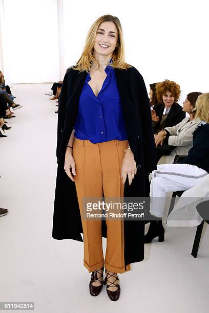 Actress Julie Gayet attends the Balenciaga show as part of the Paris Fashion Week Womenswear Spring/Summer 2017 on October 2 2016 in Paris France