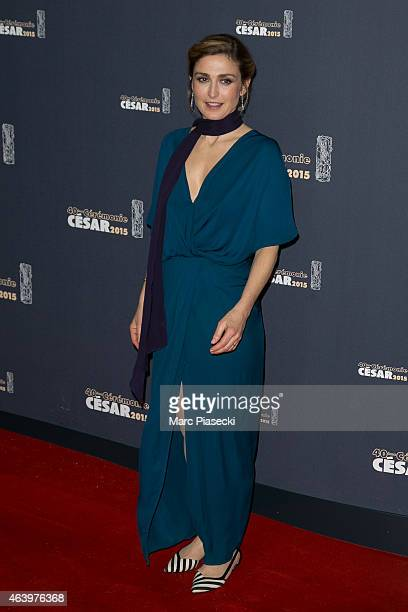Actress Julie Gayet attends the 'CESARS' Film awards at Theatre du Chatelet on February 20 2015 in Paris France