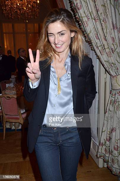 Actress Julie Gayet attends the 'European Time For Peace Awards' at the Hotel Ritz on December 10 2010 in Paris France
