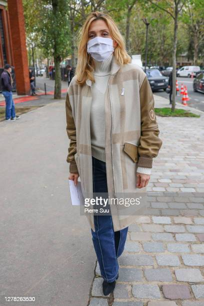 Actress Julie Gayet attends the Hermes Womenswear Spring/Summer 2021 show as part of Paris Fashion Week on October 04, 2020 in Paris, France.