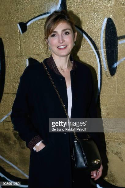 Actress Julie Gayet attends the Vendorama Exhibition as Boucheron Celebrates its 160th Anniversary at Monnaie de Paris on January 11 2018 in Paris...