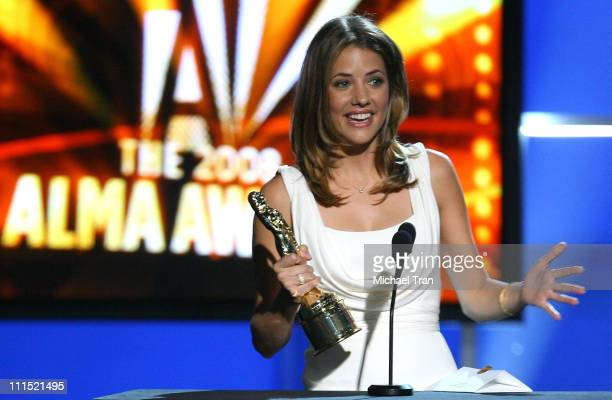 Actress Julie Gonzalo onstage during the 2008 ALMA Awards at the Pasadena Civic Auditorium on August 17 2008 in Pasadena California