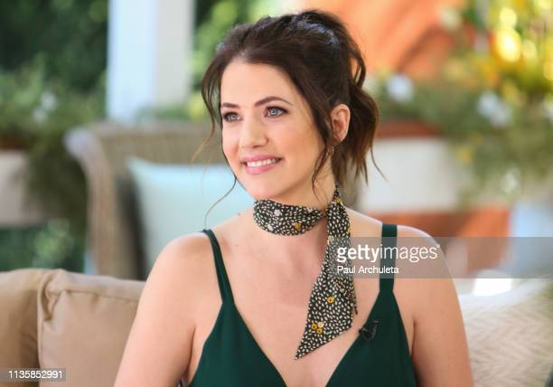 "Actress Julie Gonzalo visits Hallmark's ""Home & Family"" at Universal Studios Hollywood on March 14, 2019 in Universal City, California."
