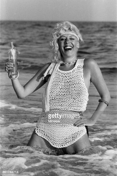 Actress Julie Goodyear Bet Lynch in Coronation Street on holiday in Portugal 18th August 1983