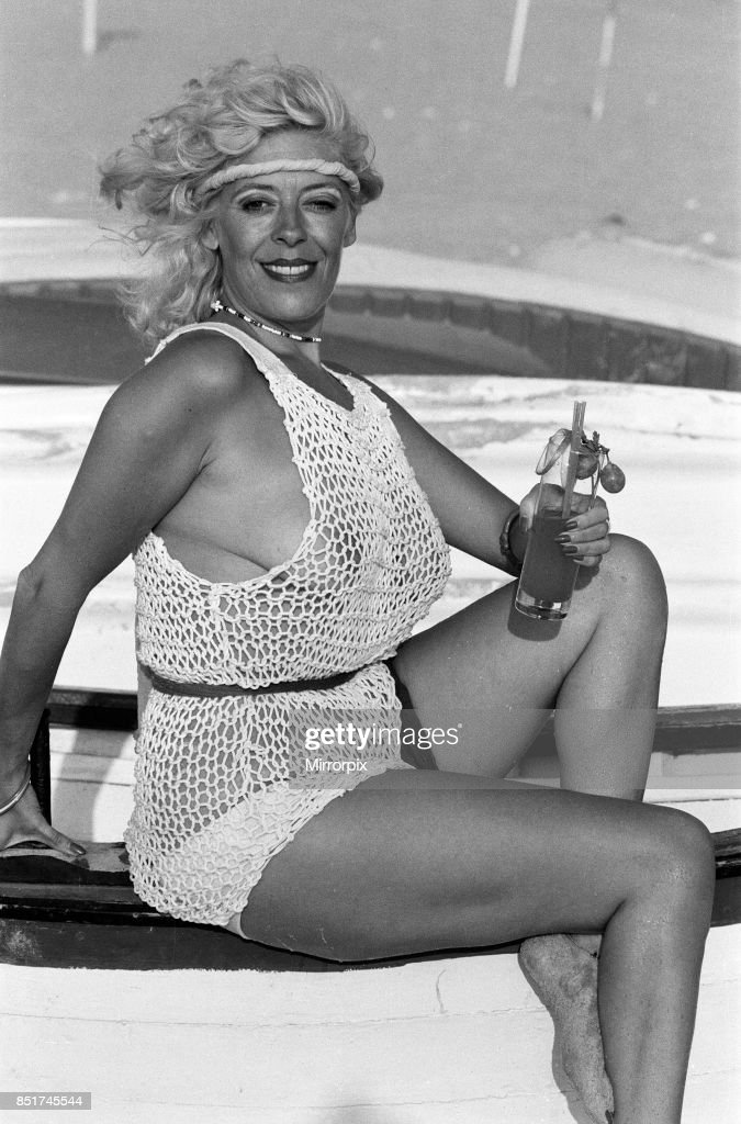 Julie Goodyear on holiday in Portugal : News Photo