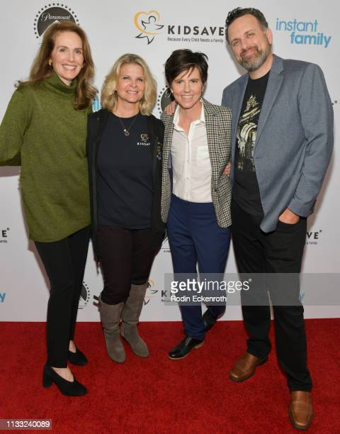 Actress Julie Hagerty Kidsave CEO Randi Thompson actress and comedian Tig Notaro and director Sean Anders attend Paramount Pictures Hosts Kidsave's...