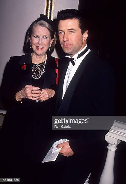 Actress Julie Harris and actor Alec Baldwin attend the American Academy of Dramatic Arts' Sargent Award Salute to Julie Harris on February 7 1993 at...