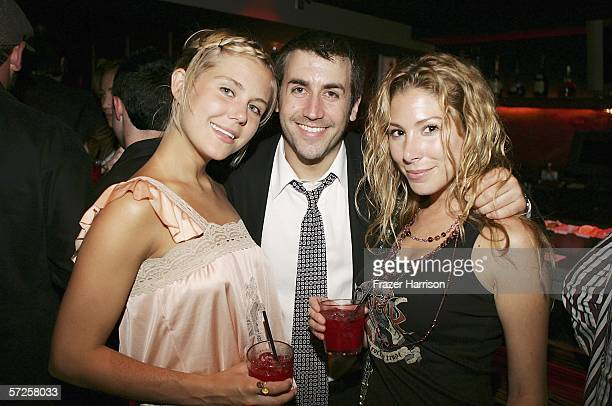 Actress Julie Huget Greg Pedicin agent and Jaine Michaels at the Launch Party For Showtime's season 2 Masters Of Horror held at Ivar Club on April 4...