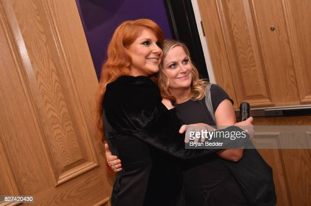 Actress Julie Klausner and executive producer Amy Poehler attend Vulture Hulu's screening of 'Difficult People' on August 7 2017 in New York City