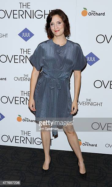 Actress Julie Lake attends 'The Overnight' New York premiere at Landmark's Sunshine Cinema on June 18 2015 in New York City