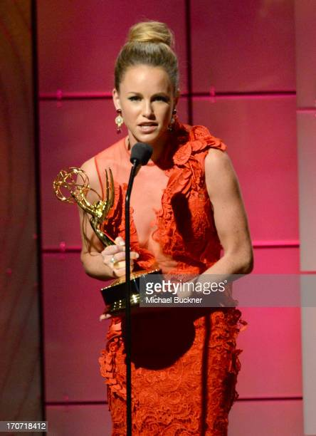 Actress Julie Marie Berman accepts the Outstanding Supporting Actress in a Drama Series award for General Hospital onstage during the 40th Annual...