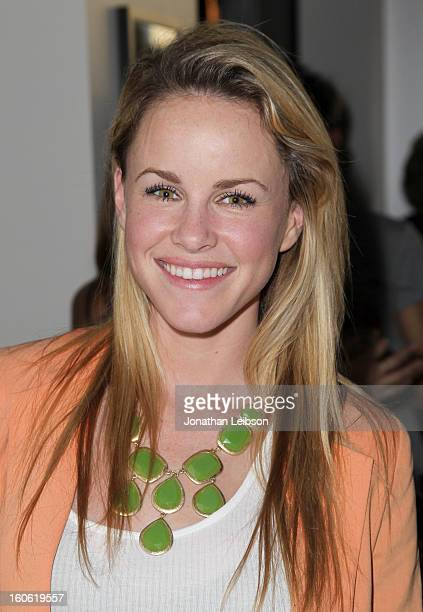 Actress Julie Marie Berman attends Super Bowl Sunday at The Microsoft Experience on February 3 2013 in Venice California