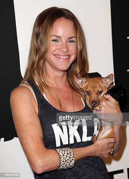 Actress Julie Marie Berman attends the NKLA Pet Adoption Center ribbon cutting and celebrity/donor brunch at the NKLA Pet Adoption Center on August...