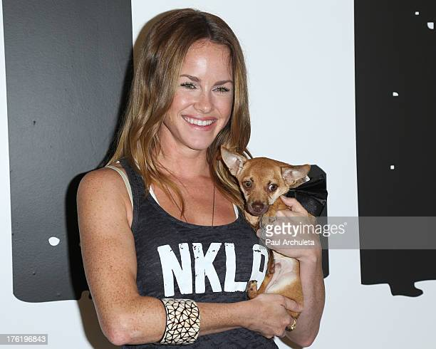 Actress Julie Marie Berman attends the NKLA Pet Adoption Center ribbon cutting and celebrity/donor brunch at NKLA Pet Adoption Center on August 11,...