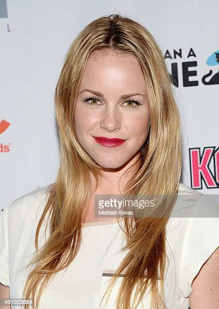Actress Julie Marie Berman enjoys the More Than a Cone art auction and campaign launch benefiting Best Friends Animal Society in Los Angeles where...