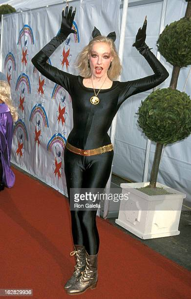 Actress Julie Newmar attends the Eighth Annual Dream Halloween Benefit on October 27 2001 at the Santa Monica Barker Hanger in Santa Monica California