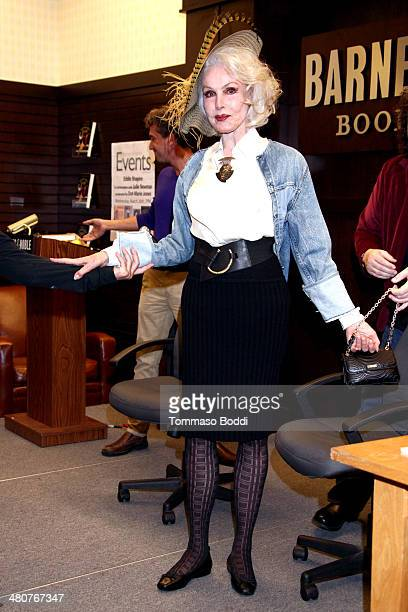 Actress Julie Newmar attends the Nothing Like A Dame Conversations With The Great Women Of Musical Theatre book launch held at Barnes Noble bookstore...