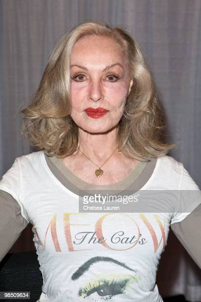 Actress Julie Newmar attends Wizard Entertainment's Comic Con Expo at Anaheim Convention Center on April 16 2010 in Anaheim California