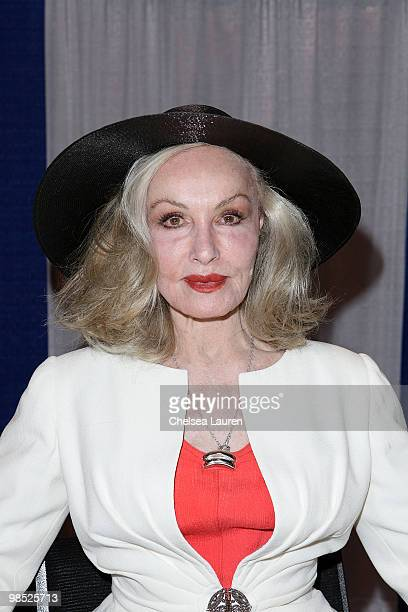 Actress Julie Newmar attends Wizard Entertainment's Comic Con Expo at Anaheim Convention Center on April 17 2010 in Anaheim California