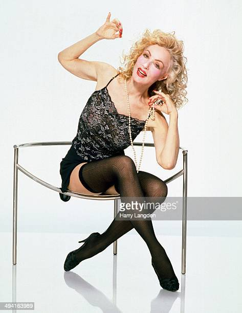 Actress Julie Newmar poses for a portrait in 1985 in Los Angeles California