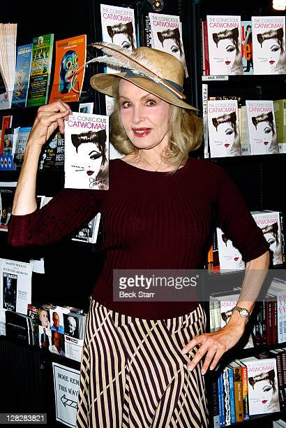 Actress Julie Newmar signs copies of her new book The Conscious Catwoman Explains Life On Earth at Book Soup on October 5 2011 in West Hollywood...